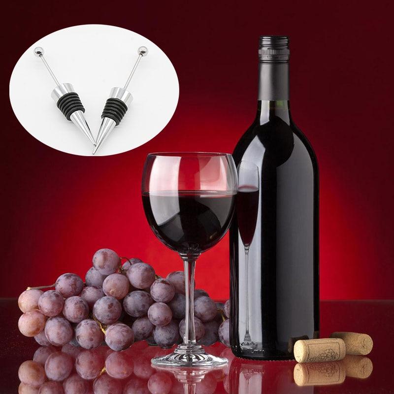 10pcs Lot Beaded Bottle Stopper Wine Storage Twist Cap Plug Reusable Vacuum Sealed Wine Vacuum Retain Freshness Bar Tools Corkscrews Openers Aliexpress