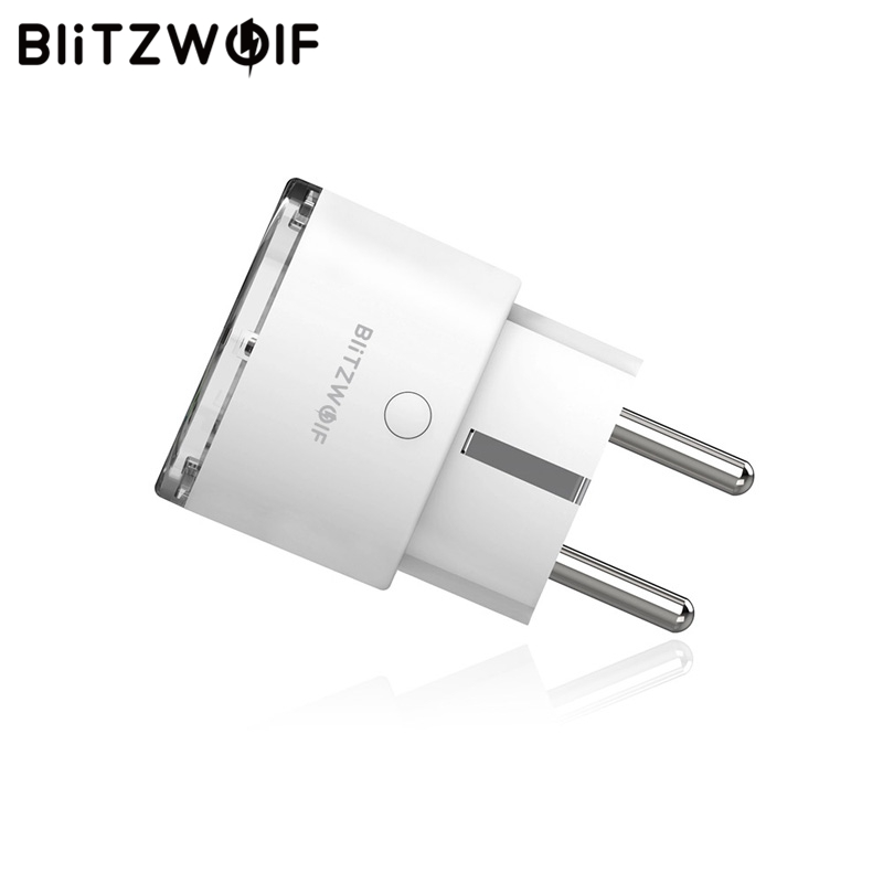 BlitzWolf BW-SHP6 EU Plug Metering Version WIFI Smart Socket 220V-240V 10A Work With Amazon Alexa For IFTTT For Google Assistant