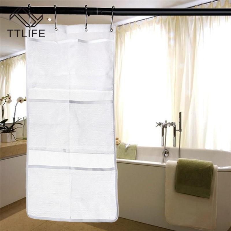 TTLIFE Portable Hanging Shower Storage Mesh Bath Shower Organizer Bathroom Gadgets Large Shower Caddy Bathroom Accessories
