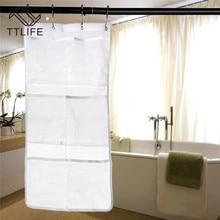 TTLIFE Portable Hanging Shower Storage Mesh Bath Organizer Bathroom Gadgets Large Caddy Accessories