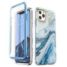 """I blason pour iPhone 11 Pro Case 5.8 """"(2019) Cosmo coque pare chocs en marbre brillant avec protection décran intégrée"""