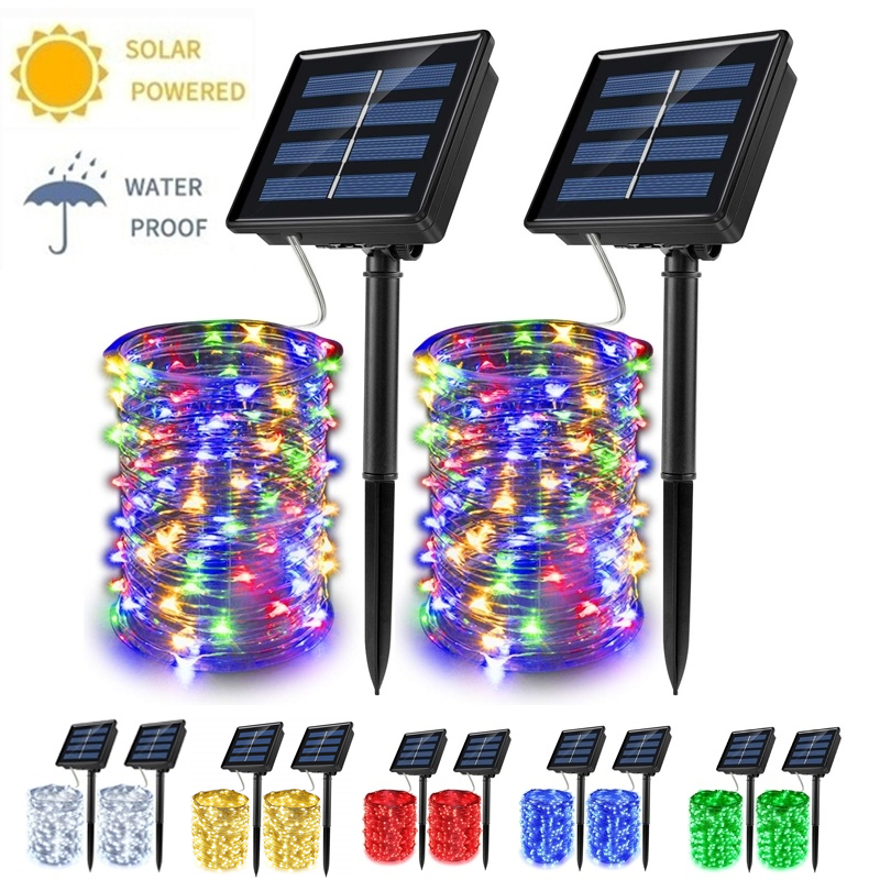 Solar Powered Waterproof Fairy String Copper Wire DLights For Party, Patio, Garden,Yard,Wedding,Christmas Decor Lights Outdoor