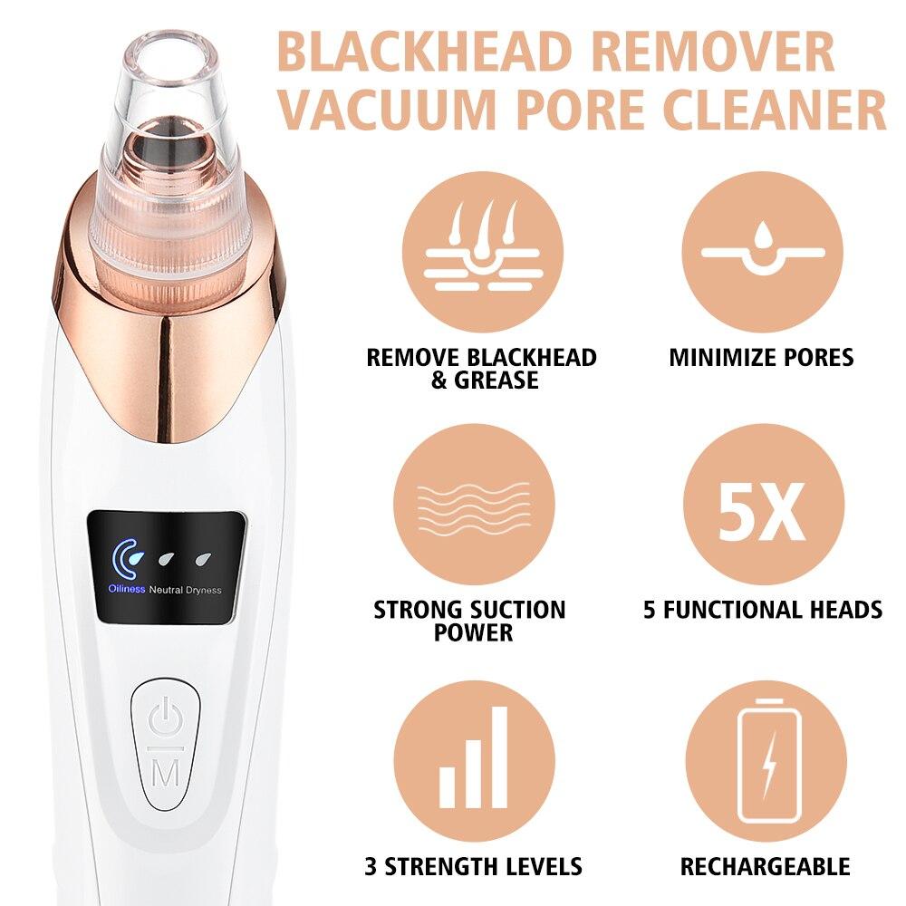 Blackhead Remover Vacuum Acne Pimple Black Spot Suction Electric Facial Pore Cleaner Skincare Exfoliating Beauty Instrument-3