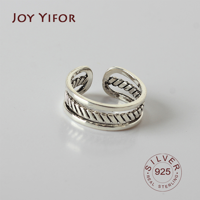 Real 925 Sterling Silver Rings For Women Adjustable Ring Elegant Fine Jewelry Romantic Party Bijoux Gifts
