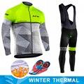 Nw 2019 dos homens de manga longa inverno velo térmico conjunto camisa ciclismo quente corrida bicicleta ciclismo roupas ropa