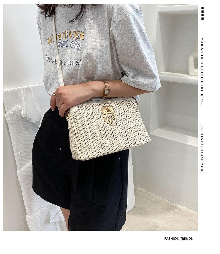 Fashioned Straw Crossbody Bags for Women 2021
