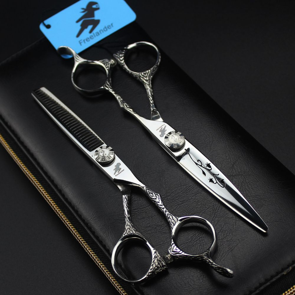 Freelander 6 inch Japan Steel 440C Barber Hairdressing Scissors Professional Salon Hair Scissor