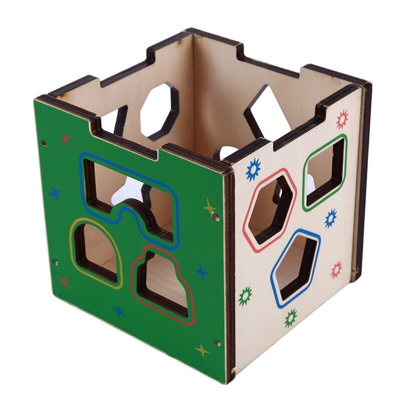 geométrica blocos caixa de classificação correspondência montessori