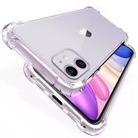 Funda transparente para teléfono móvil Iphone, carcasa trasera suave para iphone 11, 12 Pro Max, 7, 8 Plus, Mini, 6, 6S, X, XS MAX, XR, SE, 2020