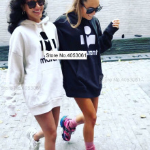 Hooded Letter Women Sweatshirt-Female/ladies Pullover Loose Print Casual Cotton Top Flocking