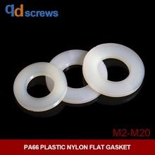 PA66 M2M2.5M3M4M5M6M8M10M12M14M16M20 Plastic Nylon Flat Gasket
