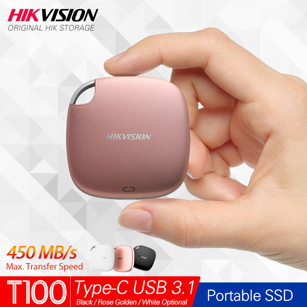Hikvision HikStorage Portable SSD 120GB 240GB External SSD 960GB Disk Drive 480GB SSD USB3 1 Type-C Solid State Disk 3 color SSD