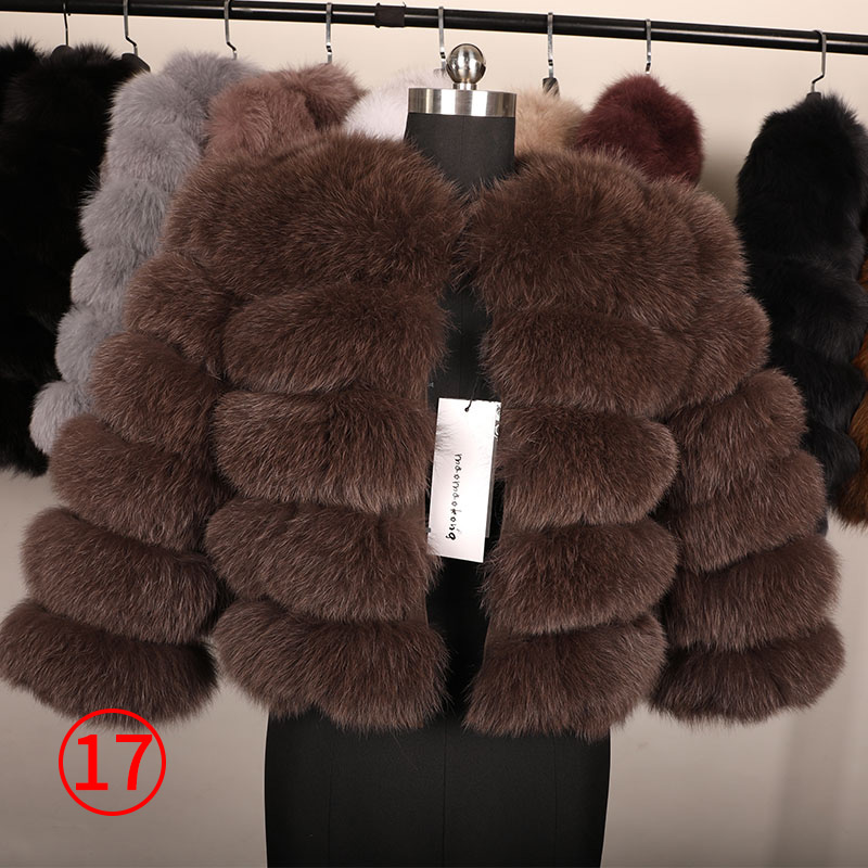 maomaokong 50CM Natural Real Fox Fur CoatWomen Winter natural fur Vest Jacket Fashion silm Outwear Real Fox Fur Vest Coat Fox 31