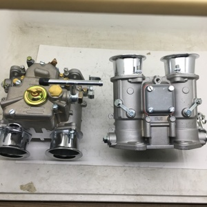 Image 2 - SherryBerg (2x) 45 Dcoe 152 Twin carburetor with air horns for Toyota 22R 1981 1984 Pickup Weber Solex dellorto CARBY