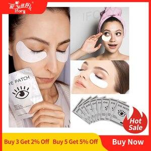 Image 1 - 12 adet = 6 çanta jel göz bantları göz güzellik bakımı Anti Aging göz bandı beyazlatmak koyu halkalar hidro jel kırışıklık karşıtı