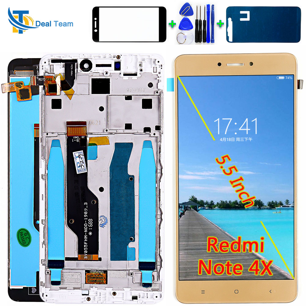 AAA Quality LCD Display For Xiaomi Redmi Note 4X / Note 4 Global (CPU:Snapdragon 625) Touch Screen Digitizer Assembly Frame With