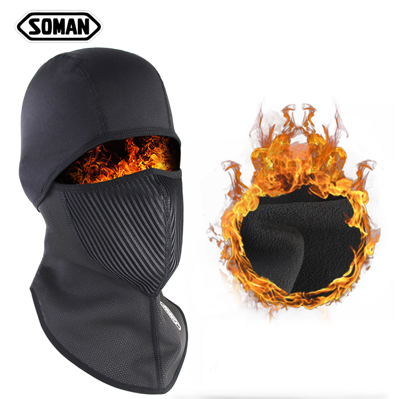 2021 Winter Motorcycle Helmet Masks Breathable Cycling Riding Face Mask Windproof Knit Beanies Hat Scarf  warm mask face shield