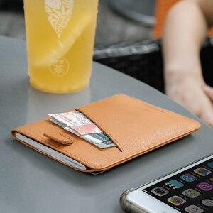 Image 3 - NewBring עור דרכון כיסוי נסיעות ארנק גברים עבור כרטיס אשראי פנקס הצ קים מזהה מחזיק כרטיס קליפ ארנק דרכון בעל נשים