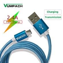 Vumpac – câble de recharge USB type-c tressé en Nylon, 8 fiches, pour téléphone huawei, xiaomi, samsung, iphone7 pro, max, Xs, Xr, X, SE