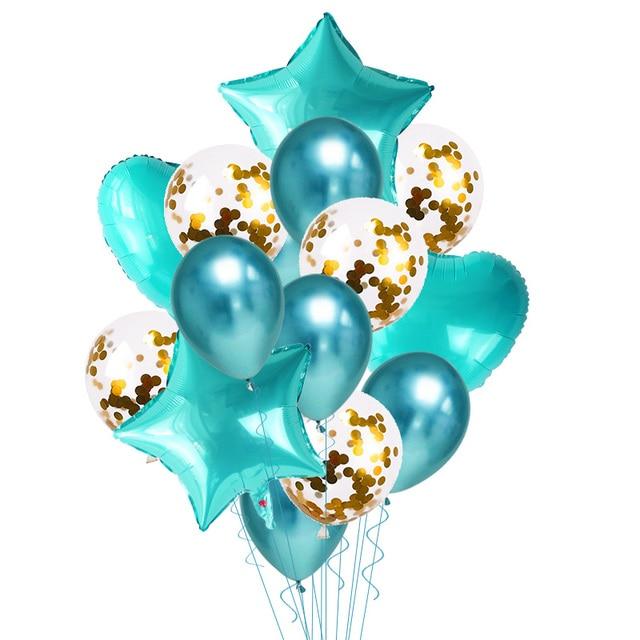 Ballons métalliques chromés 10/15/20 pièces | Confettis or pour ballon joyeux anniversaire, ballons à hélium gonflables pour décoration de mariage