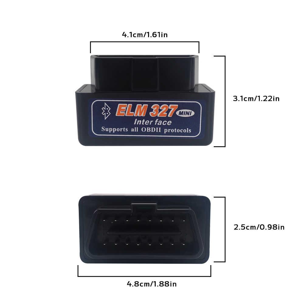 Elm327 OBD2 Bluetooth profesional herramienta de escaneo para Hyundai Mazda Suzuki Subaru Buick Peugeot Android V2.1 escáner de diagnóstico de coche