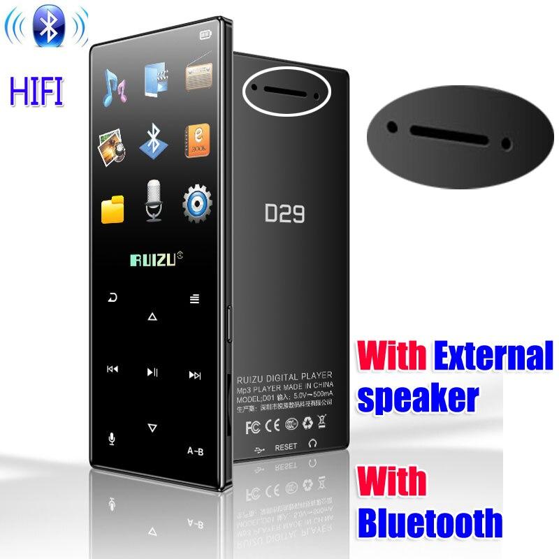 Новейший оригинальный RUIZU D29 спортивный MP3 плеер 4 Гб с поддержкой экрана 1,8 дюйма, FM, запись, электронная книга, часы, шагомер, внешний динамик MP3-плееры      АлиЭкспресс