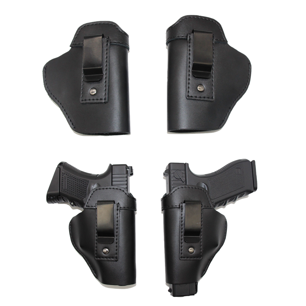 IWB Concealed Leather Holster Carry Holster For Sig Sauer P226 SP2022 P229 <font><b>P250</b></font> Glock 17 19 43 Beretta 92 Holster Accessorie image