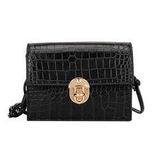цена на Summer bag retro small bag female new lady 2020 bag texture shoulder bag diagonal bag crocodile pattern small square bag