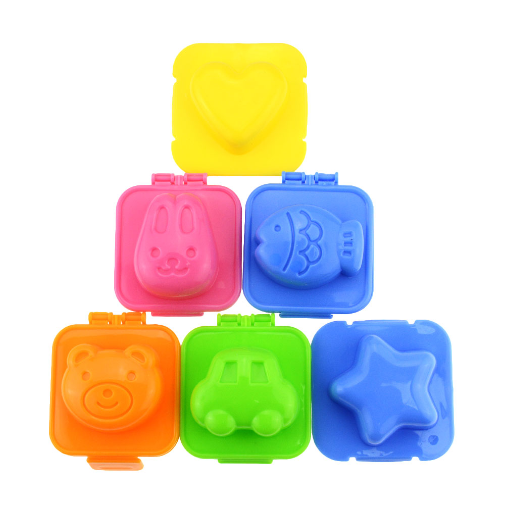 6Pcs/Sets Kitchen DIY Chef Rice Ball Mould Kitchen Accessories Cartoon Sushi Maker Rice Roll Mold Boiled Egg Tool