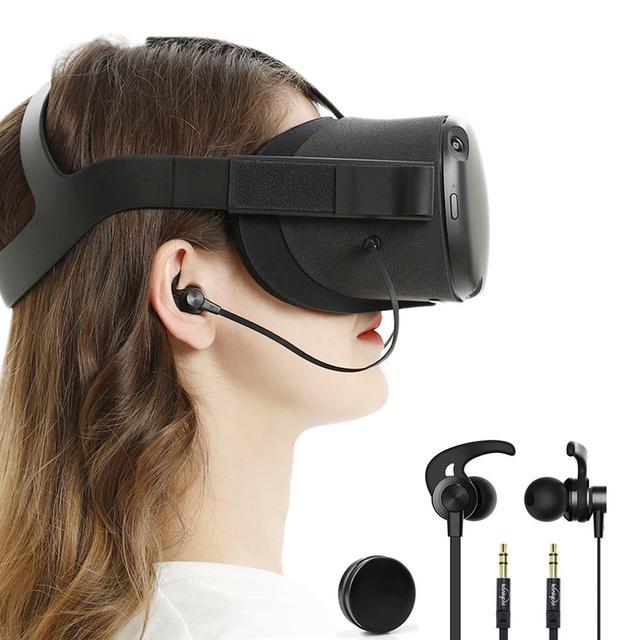 In-Ohr Earbuds Kopfhörer Kompatibel Mit Oculus Quest VR Headset Mit Kopfhörer Lagerung Box
