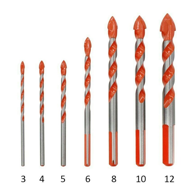 Triangular-overlord Handle Multi-functional Drill Bits ORIGINAL Marble Perforator Ceramic Tile Drill Pakistan