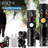 High Power Batterie LED Taschenlampe USB Aufladbare LED Taschenlampe Lanterna T6 Laterne Taktische Taschenlampe für Fahrrad Licht