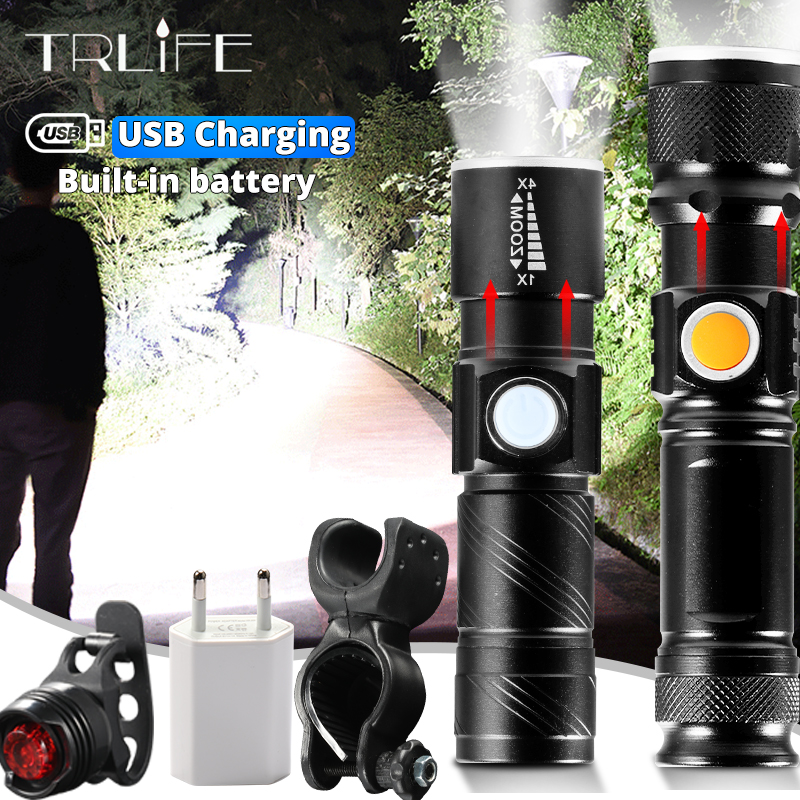 Bicycle Light Torch ZK20 Mini 3 Modes Q5 2300LM LED Flashlight Lamp Front