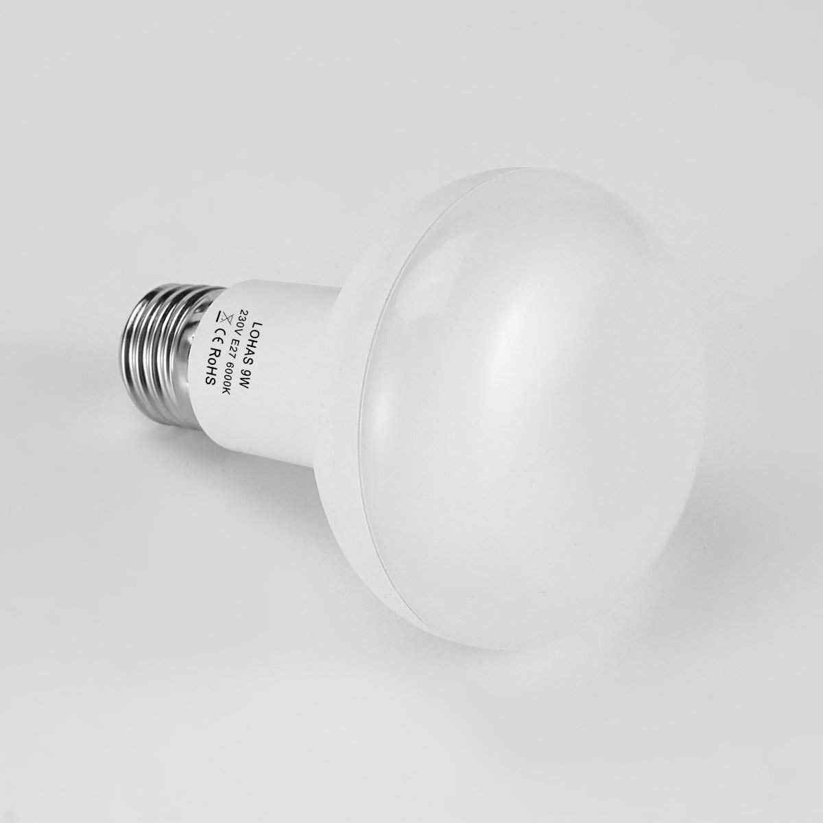 HLIGHT E26 E27 LED Bulb 9W Reflector Light Incandescent Indoor Outdoor Light 720lm Warm Cool White 3000 6000K 4PACK,E26 6000K Energy Class A+