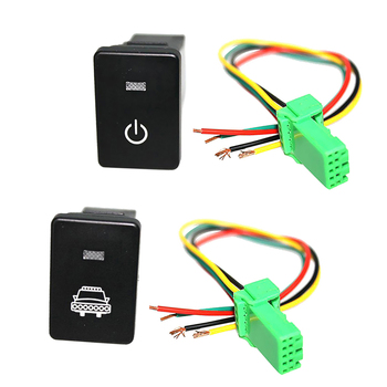 Push Button Switch White LED Power Switch & Headlight with Harnesses For Toyota 4Runner 2010-On image