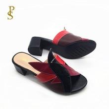 Karışık renk PU ayakkabıları kadınlar için moda ve renkli kadın terlik bayanlar için