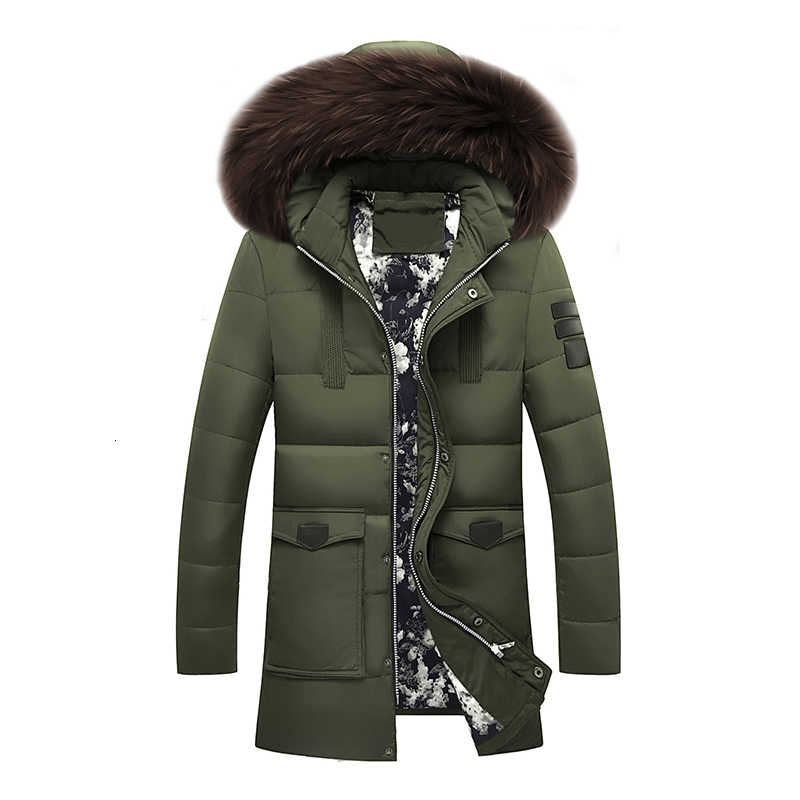 新ブランドダウンジャケット 90% ホワイトダックダウンジャケットコート冬暖かいコートカジュアルメンズダウンジャケット毛皮襟フード付きコート