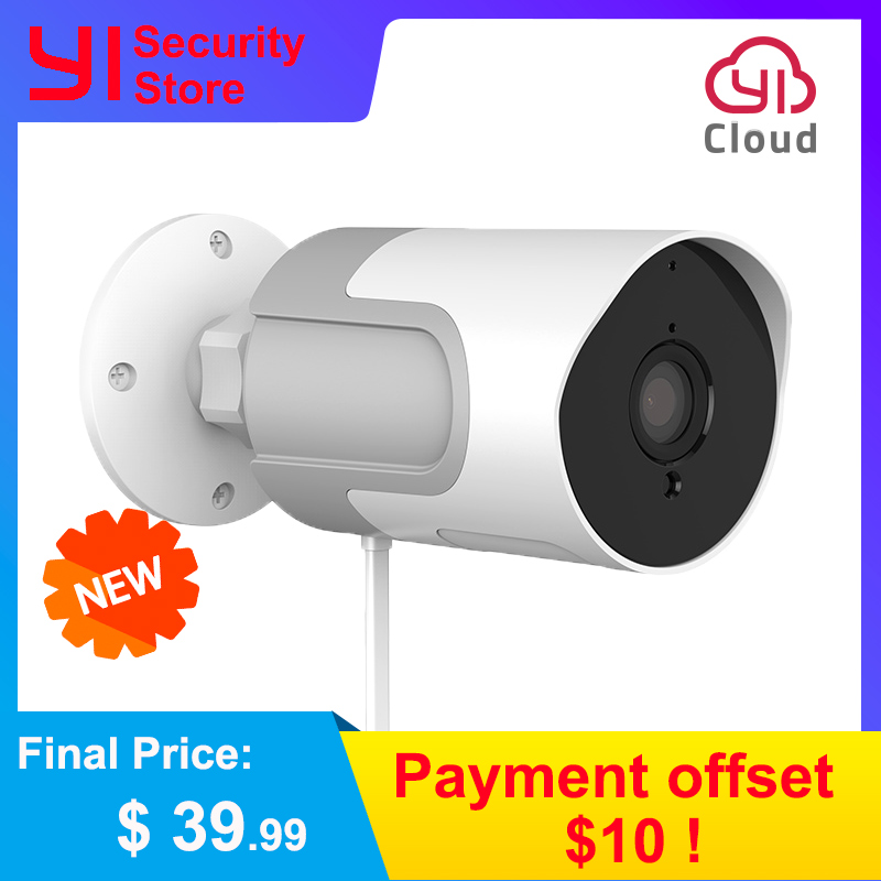 YI LoT Outdoor Camera 1080P Weatherproof Wireless IP Cam Night Vision Security Surveillance Camera YI Cloud Available EU