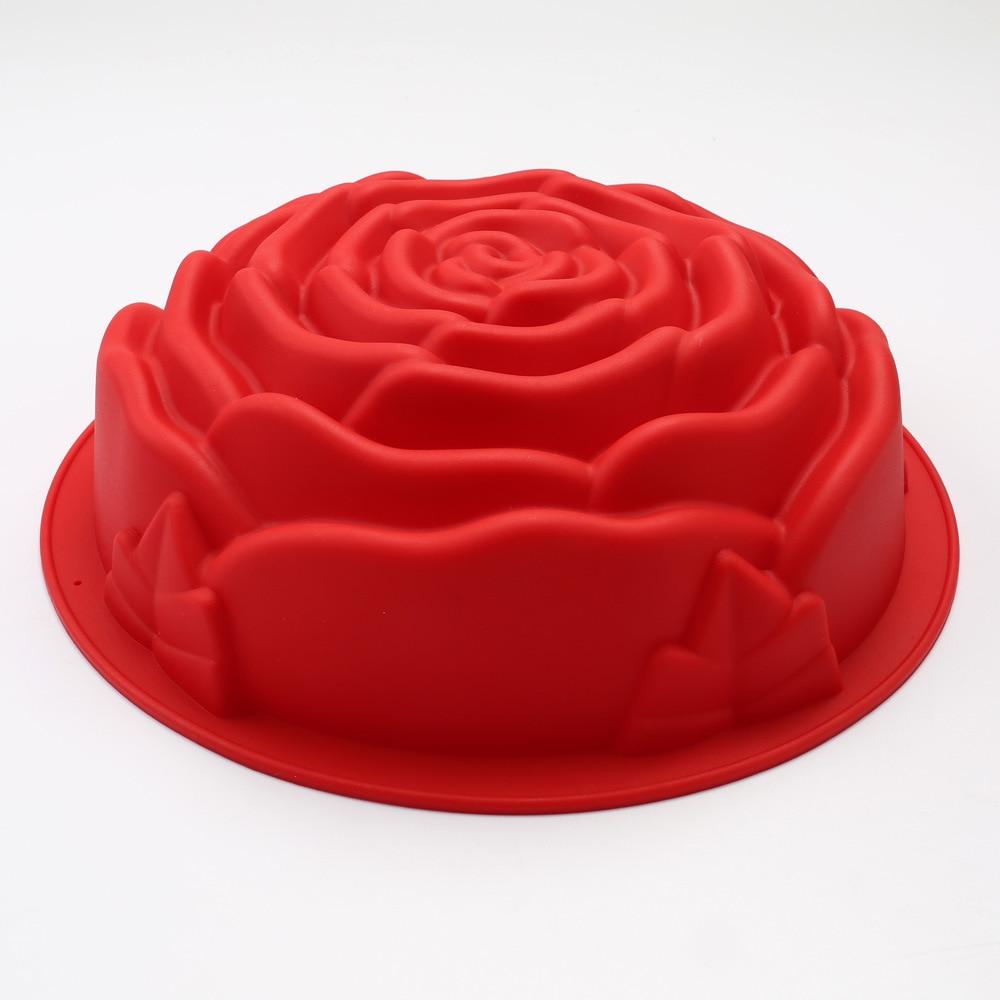 3D Fondant Silicone Rose Flower Cake Tin