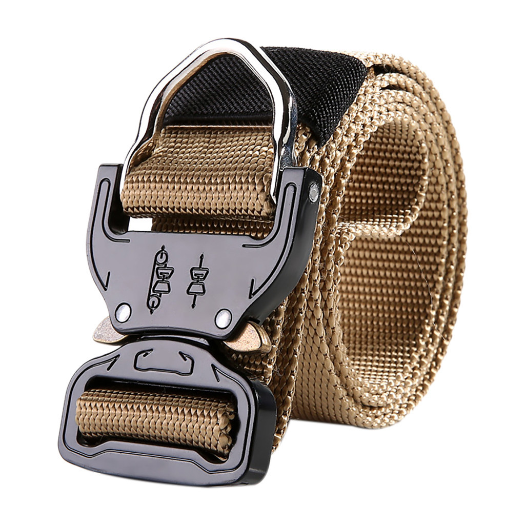 Womail 2019 Fashion Tactical Belt Military New Style Adult Wide Canvas Belt Military Outdoor Canvas Automatic Belt Buckle