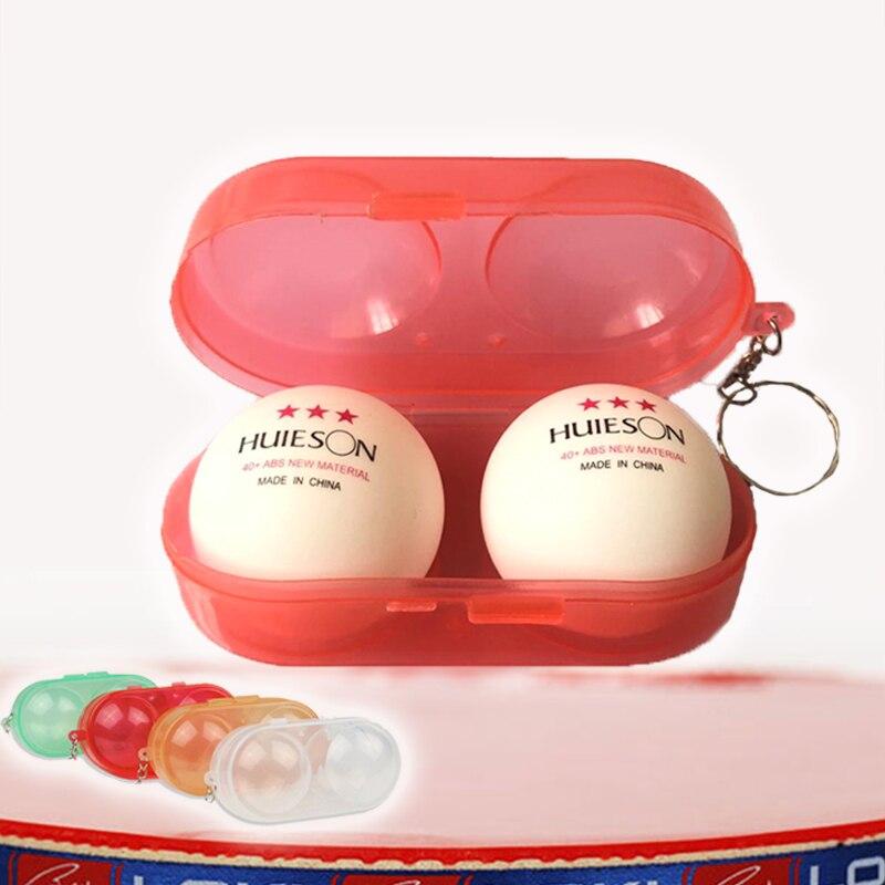 Balles de Tennis de Table en ABS, 40 + mm, avec boîte, balles de Ping-Pong, accessoires (2 balles + 1 étui), cadeau