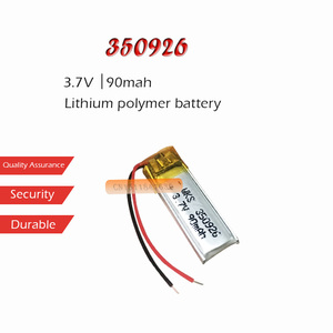 1PC 3.7V 90mAh Li-ion Battery 350926 Lithium Polymer Rechargeable Battery for MP3 MP4 MP5 bluetooth headset smart bracelet(China)