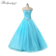 Ball-Gown Quinceanera-Dresses 16-Dress Tulle Prom-Party Sweet New Beads Luxury