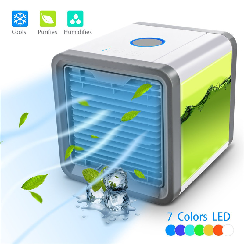 Mini Household Air Conditioners USB Protable Light Conditioning Humidifier Purifier Desktop Mini Air Conditioners For Home