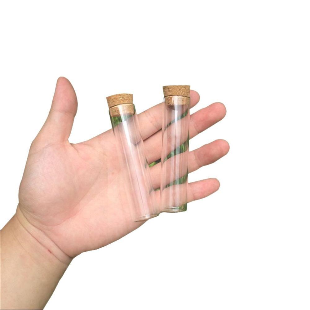 22*90mm 22ml vide verre Transparent bouteilles claires avec bouchon de liège flacons en verre pots emballage bouteilles Tube à essai 100 pcs/lot-in Bouteilles et bocaux de stockage from Maison & Animalerie    1
