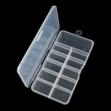 Case 11-Grids False-Half Storage-Box Nail-Art-Tips Empty-Container Uv-Gel-Tools Acrylic
