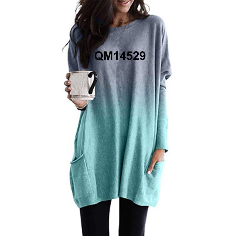 moda ser ainda ser amavel letras imprimir camiseta para mulher gradiente manga comprida bolso camiseta tshirt