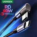 UGREEN USB Type C к USB C кабель для Samsung S9 S8 Plus PD 60W быстрое зарядное устройство 4 0 USB-C кабель для Macbook Pro Air USB шнур