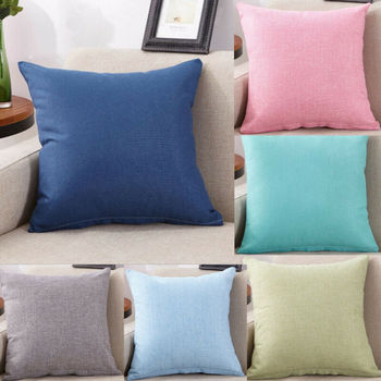 45cm*45cm Fashion Cushion Cover Custom Suede Solid Pure Color Throw Pillow Case Chair For Sofa Home Decor Wholesale
