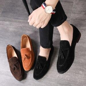 Image 5 - 37 48 남성 캐주얼 신발 moccasins 클래식 패션 럭셔리 우아한 편안한 플러스 사이즈 통기성 브랜드 로퍼 남성 #181
